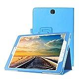 Hülle für Samsung Galaxy Tab A SM-T550 T551 T555 9.7 Zoll Schutzhülle Etui Tablet Tasche Smart Cover (Hellblau)