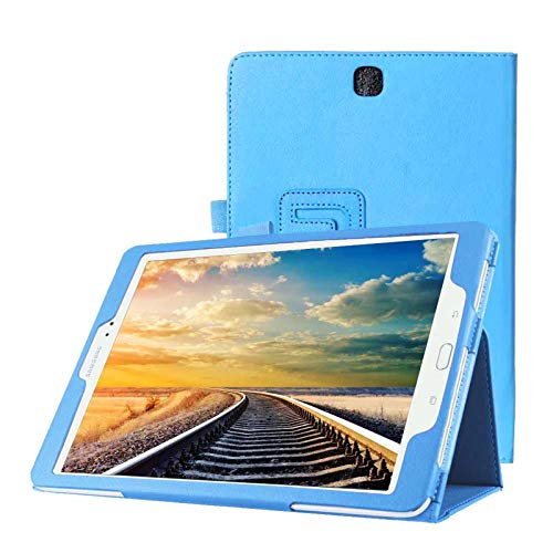 Lobwerk Hülle für Samsung Galaxy Tab A SM-T550 T551 T555 9.7 Zoll Schutzhülle Etui Tablet Tasche Smart Cover (Hellblau)
