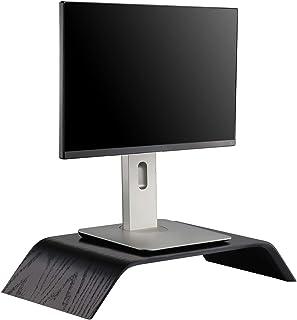 Samdi Wooden Computer Monitor Stand, Desktop Accessories, Laptop Stand, Notebook Stand, for MacBook Stand (Oak Wood Black)