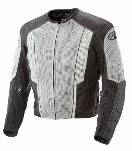 Joe Rocket Phoenix 5.0 Men's Mesh Motorcycle Riding Jacket (Gray/Black, Medium)