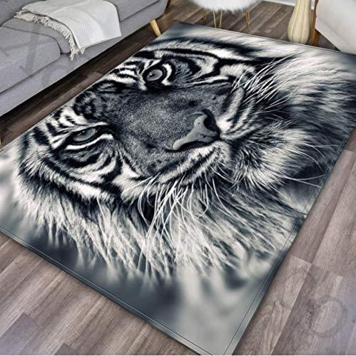 Tigre Impresión 3D Alfombra Dormitorio Sala de estar Cojín antideslizante Sofá Mesa de centro140 * 200Cm