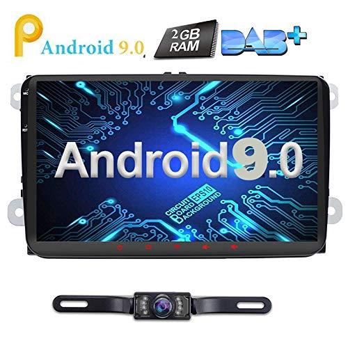 9Inch Android 8.0 Auto Radio 2 Din Oreo Quad Core 2 GB Sat Nav Video Player GPS Navigatie Ondersteunt Bluetooth WLAN DAB+ OBD2 voor VW Volkswagen SEAT Skoda Golf Polo Jetta Passat Touran