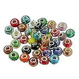 Dolity Handgefertig Murano Glas Beads Zwischenring Glasperlen zum Basteln 14x8mm