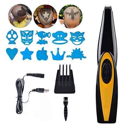 jybbpcbhb Elektrischer Haarschneider USB Wiederaufladbare Salon Friseur Haar Styling Werkzeuge Kompakte Tragbare Für Erwachsene Kinder Gravierbares Muster