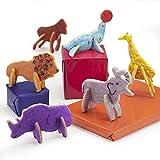 Animal Cracker 3D Cookie Cutter Set, Elephant Cookie Cutter, Giraffe Cookie Cutter, Brownie Cutter, Cartoon Animal Cookie Cutter Set.