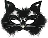 Eye mask Black Marabou Cat on Headband (máscara/careta)