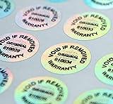 Adesivi di garanzia ologramma anti-manomissione, etichetta di sicurezza IT sigillo vuoto adesivo ciascuno con numero di serie unico