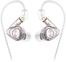 SIMGOT EM2 Hi-Res in-Ear Monitor Headphones, IEM Earphones with Detachable Cable, Hybrid Balanced Armature Dynamic Driver, Noise-Isolating Musician's Headset for Smartphones and Audio Players (Pink)