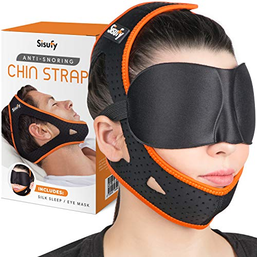 New Anti Snoring Chin Strap for CPAP Users and Mouth Breathers – Ultra Soft Sisufy Snoring Solution, Anti Snoring Devices. Stop Snoring Sleep Aid
