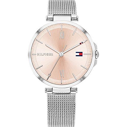 Tommy Hilfiger Reloj Analógico para Mujer de Cuarzo con Correa en Acero Inoxidable 1782206