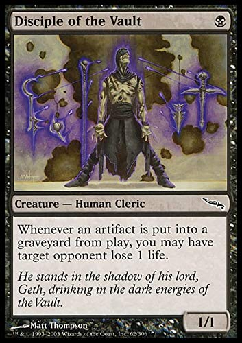 Magic The Gathering - Disciple of The Vault - Mirrodin