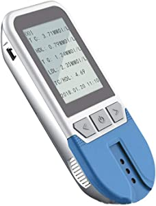 Healthcaretuye 5 in 1 Lipid Test Meter Cholesterol Meter Analyzer HDL LDL Triglycerides Test Meter Kit Monitor Measuring Meter + Strips