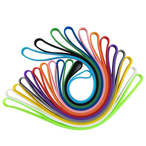 Alyster Silicone Rubber Bands Elastic Rubber Wrapping Bands for Books Art Cooking Wrapping Exercise Multicolor (12 PCS)