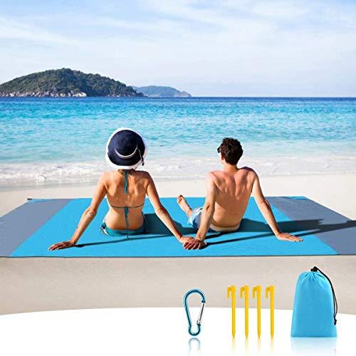 MILIER Manta de Picnic Estera Impermeable para Playa Estera de Picnic para la Prueba de la Arena con Ancla para Viajes Acampada Senderismo, 210cmx200cm