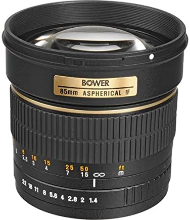 Bower 85mm f1.4 - Objetivo (SLR, 8/5, Nikon, Black, 76.2, 95.25)