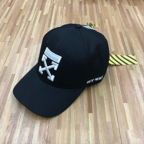 QQYZ Baseball-Kappe Herren Hip-hop Outdoor Biegemütze Sonnenhut Mit Einer Kappe Gewebt verstellbar Netz schwarz Bestickt weiß