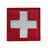 BianchiPatricia Reflective Medic Patches Tactical Medical Patches Hook-Fastener Backing