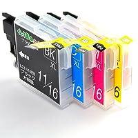 【インク革命製】 ブラザー用 LC16-4PK (4色パック大容量) Brother対応 互換 インクカートリッジ