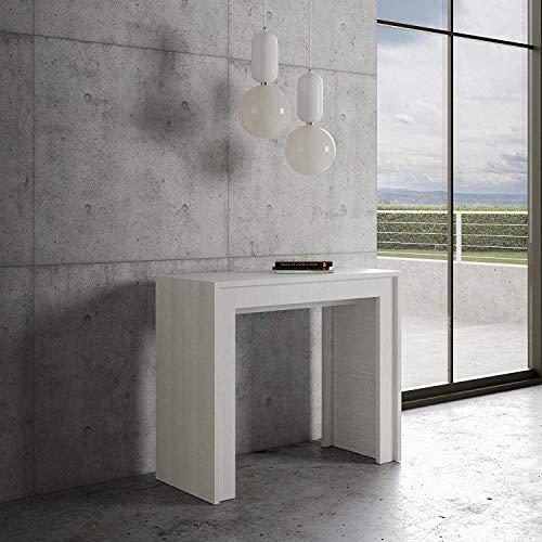 Itamoby - Consola extensible Mia blanca fresno – 5 extensiones hasta 3 metros – 14 personas