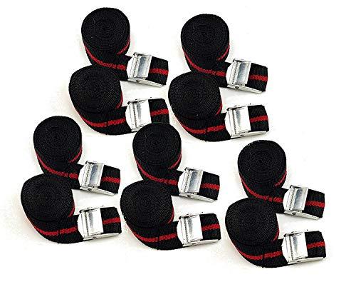 10 DKB bevestigingsriemen - set spanriem spanriem klemslot gordel ook voor bevestiging aan de bagagedrager van de fiets