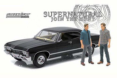 Greenlight Supernatural 1967 Chevy Impala Sport, Black 19021 - 1/18 Scale Diecast Model Toy Car -  19021BK
