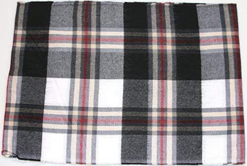 Heren strepen winter sjaal (zwart wit rood)
