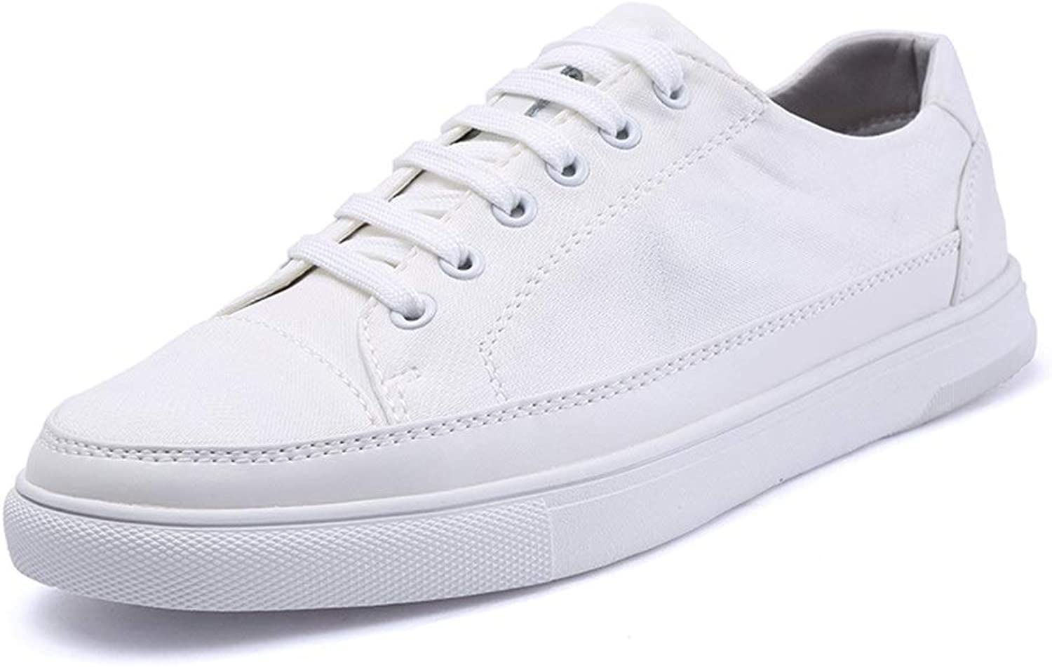 Fashion Sneaker for Men Sports shoes Lace Up Style Cloth Leather Classic Little White shoes Cricket shoes