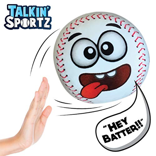 Talkin' Sports, Hilariously Interactive Toy Baseball with Music and Sound FX for Kids and Toddlers by Move2Play