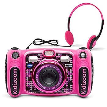 VTech Kidizoom Duo 5.0 Deluxe Digital Selfie Camera with MP3 Player and Headphones Pink