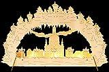 Volkskunst24 Lichterbogen aus Holz - Motiv Frauenkirche Dresden für Batterie und Netzbetrieb LED-Beleuchtung 43x27cm