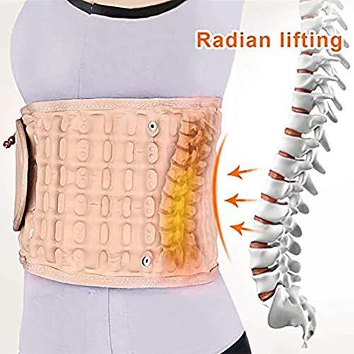 BHHT Lumbar Support Best Waist Air Traction Brace Belt Spine Lumbar Support Back Relief Belt Pain Relief Massager Physio Decompression Gift