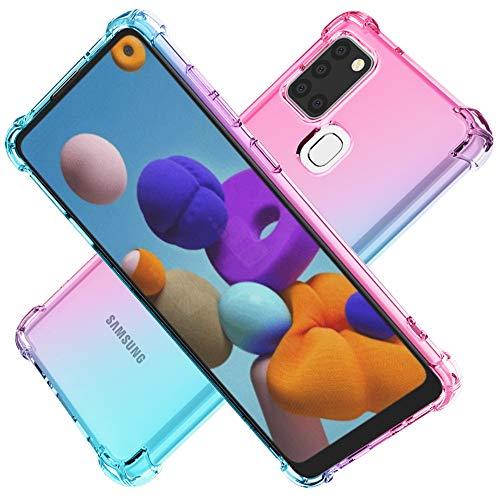 Cuoqing Hülle für Samsung Galaxy A21s, Samsung Galaxy A21s Hull klar Anti-Kratzer Schock-Absorption Sanft Silikon TPU Handyhülle Hull für Samsung Galaxy A21s