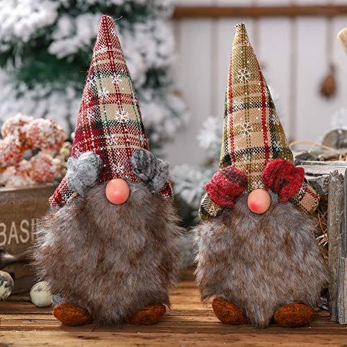 Handfly Navidad sueca Santa Gnomo adorno de estatuilla muñeco de duende nórdico del hogar decoraciones navideñas