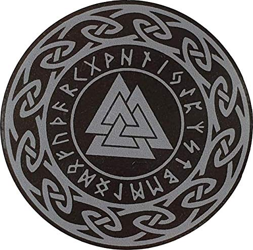 MAMA STICKER Bumper Gray Triple Triangle Viking Norse Rune Fear Talisman Amulet Odin Water Proof Tattoo Decal Symbol Sign Helmet Motorcycle Luggage Laptop Notebook Back Truck Van SUV Window Scrapbook