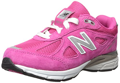 New Balance Boy's Made in US 990 V4 Sneaker, Pink/Pink, 3.5 Little Kid