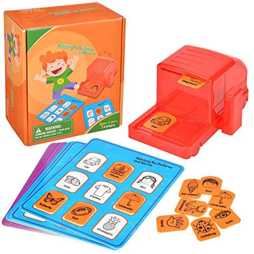 Wesimplelife Flash Cards English STEM Juguetes Educativo para Niños Juguetes de Aprendizaje Tarjetas de Animales Leer y Escribir Juguetes Aprender Idioma con Juegos para Niños y Niñas 3 4 5 6 años
