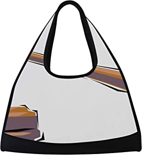 0ff0e80c70b1 Gym Bag Standing Judgment Women Yoga Canvas Duffel Bag Sports Tote Bags for  Girls