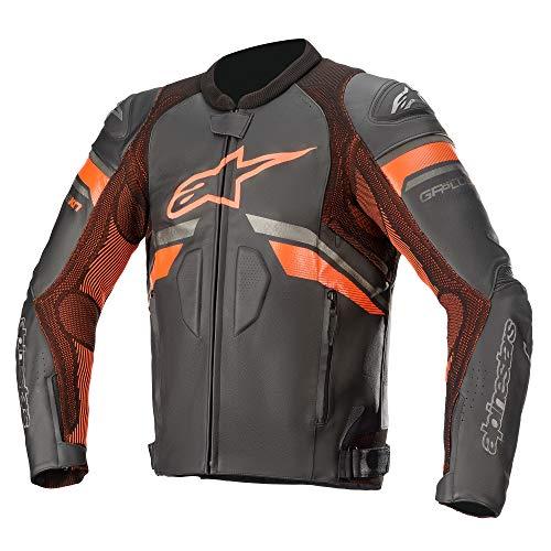Alpinestars GP Plus R V3 Rideknit - Chaqueta de piel para motocicleta, color negro y naranja 50