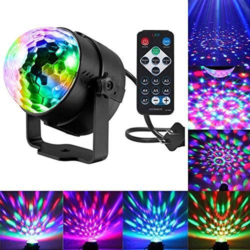 PRXD Discolampen, afstandsbediening, DJ-lampen, 7 kleuren, flitslicht, geluid, geactiveerd, feestverlichting voor Kerstmis, party, pub, bruiloft, club, show