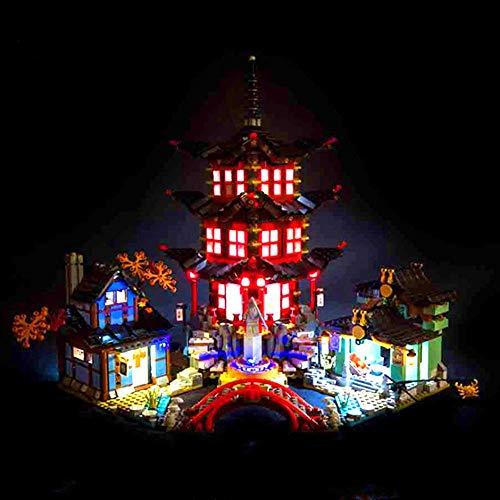 WDLY Kit De Iluminación LED, por (Phantom Ninja Kongshu Templo del Pueblo) Bloques De Construcción Modelo -USB Tecnología LED Light Kit Compatible con Lego 70751 (No Incluir Modelo)