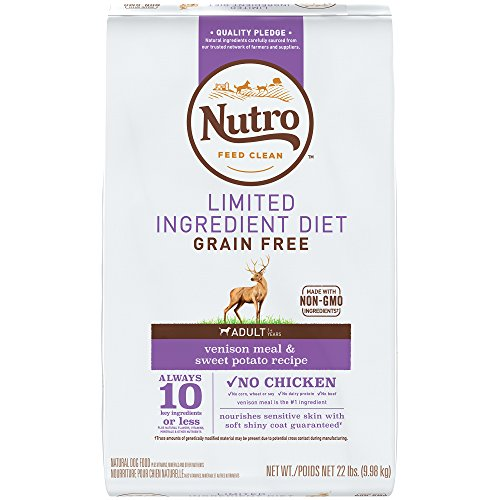 NUTRO Limited Ingredient Diet Adult Venison Meal & Sweet Potato Recipe Grain Free Dog Food (1) 22-lb