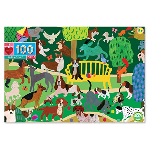Dogs at Play Jigsaw Puzzle for Kids, 100 Pieces