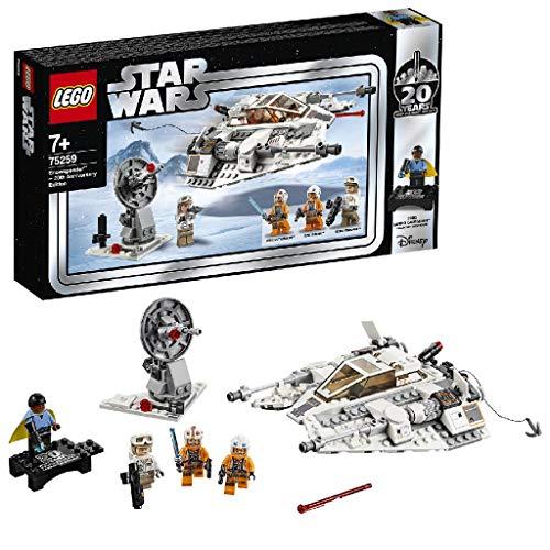 LEGO Star Wars - Speeder de Nieve (Edición 20 Aniversario), Nave de Juguete del Universo de La Guerra de las Galaxias, Incluye Personajes de la Saga (75259)
