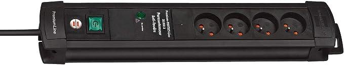 Brennenstuhl 1155001764 Tn4 Pf Premium Protect Block Surge 4 Gang Filter Baumarkt