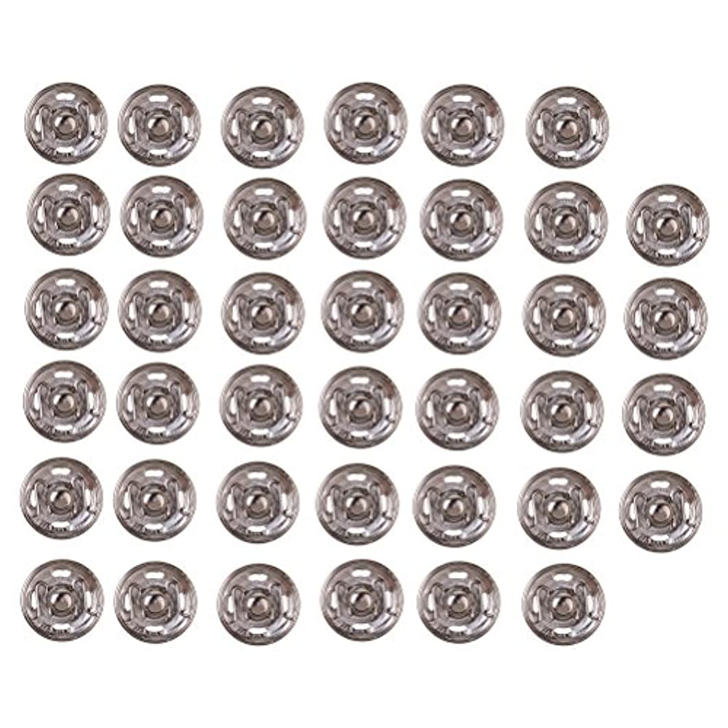 Ziitai 40 Sets 12 mm Sew-on Snap Buttons Press Button Metal Snap Closing Buttons Fasteners for Dress Coat Clothing DIY (Silver)