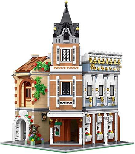 hsj Gebäude-Satz, Ziegelsteine Kleine Partikel DIY Bausteine Modell, mit Beleuchtung Kit, for Erwachsene und Kinder Exquisite Verarbeitung