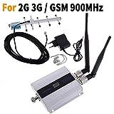 EMEBAY Amplificador de Refuerzo de señal repetidor de señal de teléfono Celular gsm 900 MHz + Antena Yagi