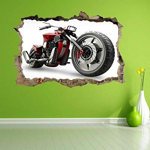 Wandtattoo Motorcycle Mural Decal Kids Bedroom Home Office Nursery Decor DC37