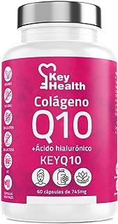 Key Health   Colágeno Hidrolizado Marino + Coenzima Q10 + Ácido Hialurónico + Vitamina C y Zinc   Fórmula Mejorada Para un...