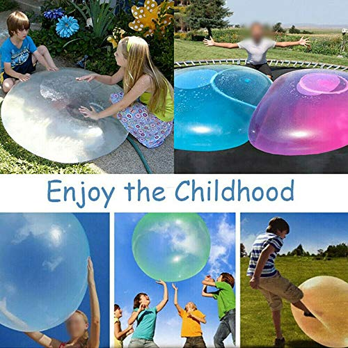 VERONNI 27 Inch Bubble Ball Water Balloon Toy for Adults Kids Inflatable Water Ball Beach Garden Ball Soft Rubber Ball for Outdoor Party (Green)